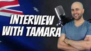 pete smissen, host of aussie english podcast, interview with friend tamara, australian slang, learn aussie slang words, australian slang examples