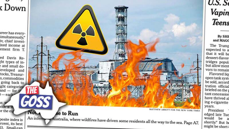 the goss, ian smissen, pete smissen, radioactive wildfires, chernobyl wildfire, plastic-eating enzymes