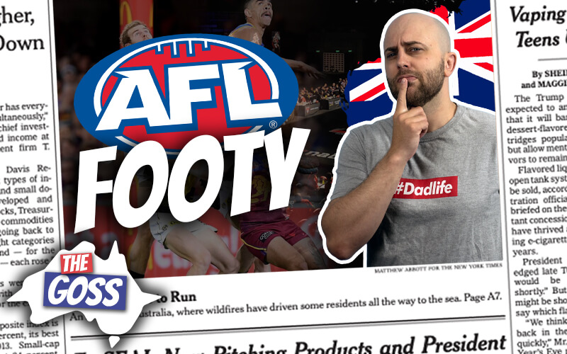 pete smissen, host of aussie english, talks to ian smissen father, the goss australia, talks about afl draft 2020, afl salary players 2020