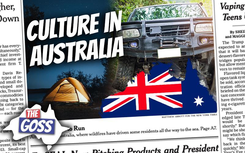 pete smissen, host of aussie english, the goss australia, talks to ian smissen father, camping culture australia, 4 wheel utes in australia
