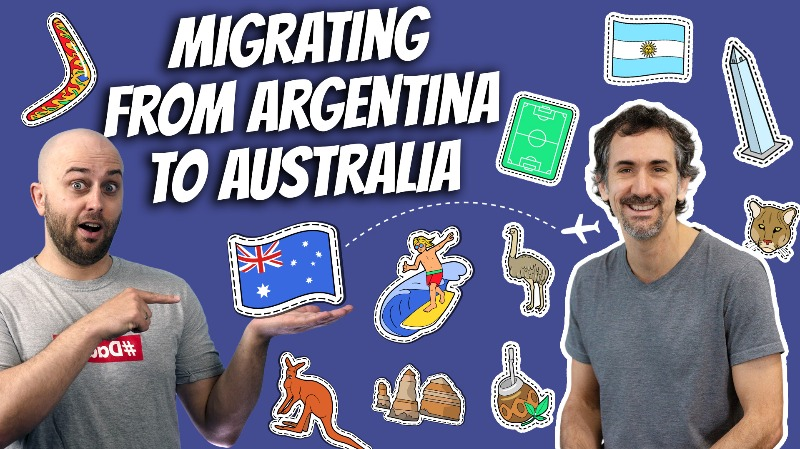 pete smissen, host of aussie english, interviews martin ruffo, inspiringed.com, australian migrant story, from argentina to australia, australian immigrant story