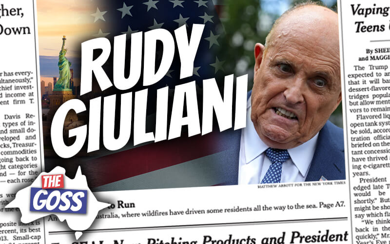pete smissen, host of the aussie english podcast, talks to ian smissen, pete smissen father, the goss australia, rudy giuliani hair dye, who is rudy giuliani, rudy giuliani australia