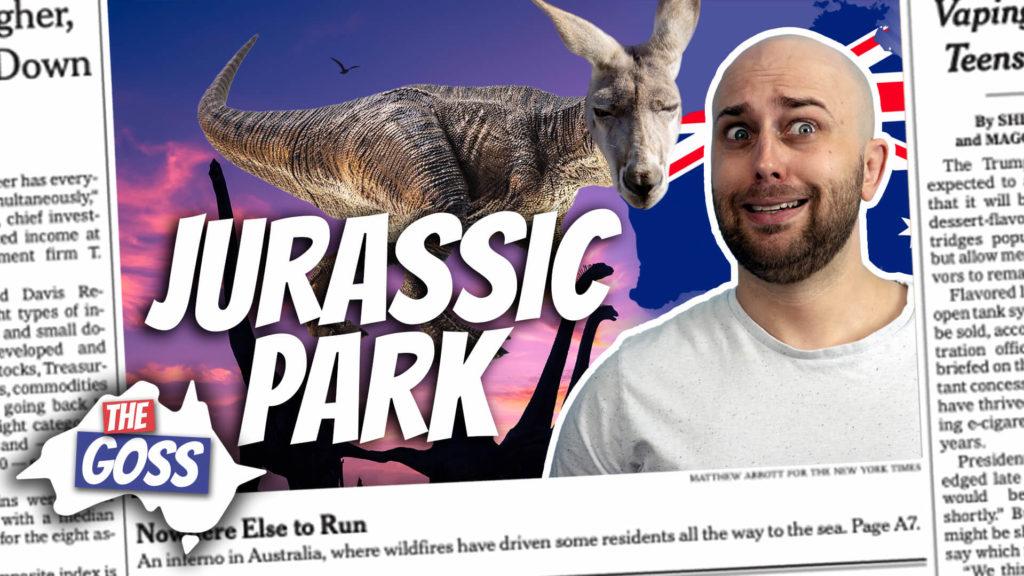 pete smissen, host of aussie english, talks to ian smissen, the goss australia, australia news, talks about wilson's promontory national park australia, jurassic park in australia
