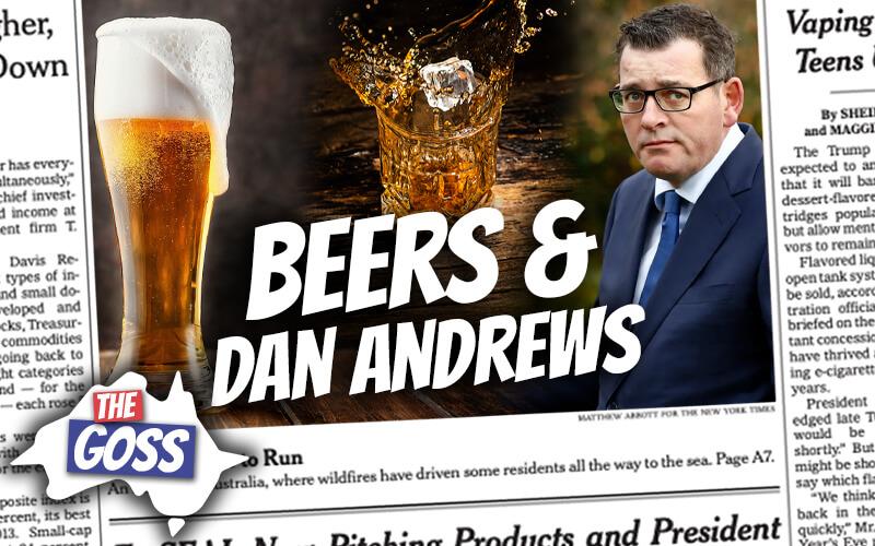 pete smissen, host of aussie english, talks to ian smissen father, the goss australia, australia premier dan andrews