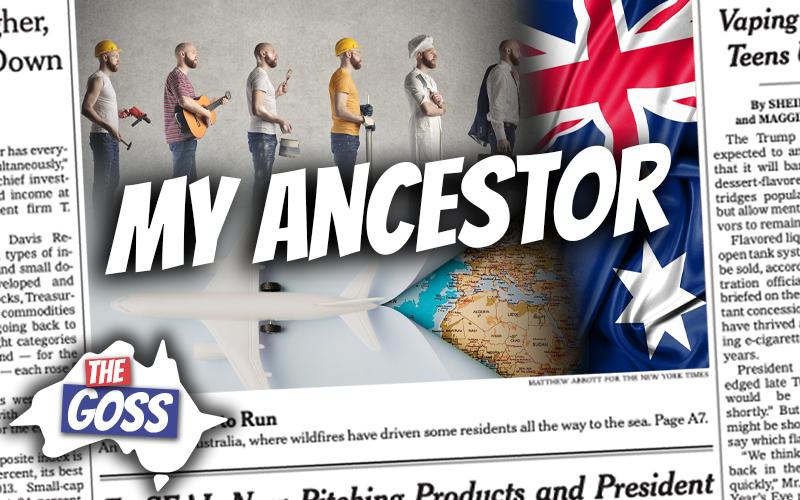 pete smissen, ost of aussie english, talks to ian smissen, pete smissen father, the goss, talks about smissen ancestor william douglas, migrated to australia, australian immigrant story
