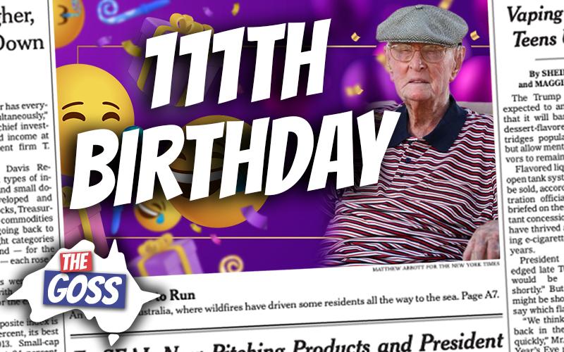 pete smissen, talks to ian smissen, the goss, pete smissen father, talks about australian centenarian, dexter kruger oldest australian, who is oldest australian