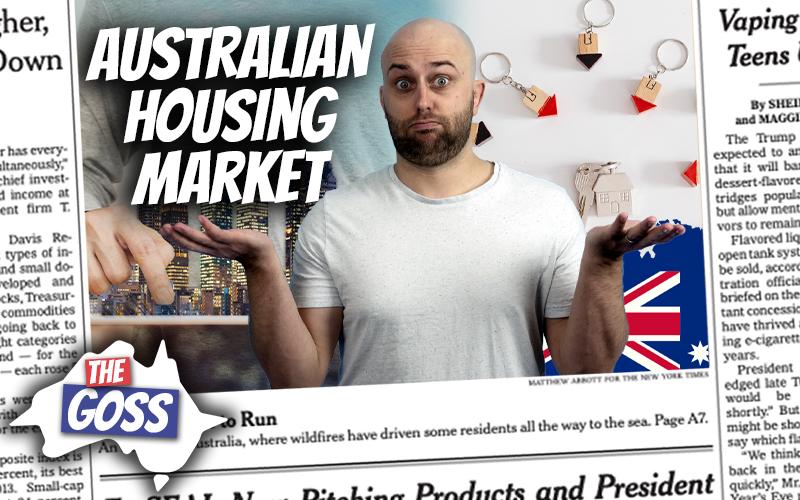 pete smissen, host of aussie english podcast, talks to father ian smissen, the goss australia, talks about australian housing market, australia real estate current state, real estate in australia news