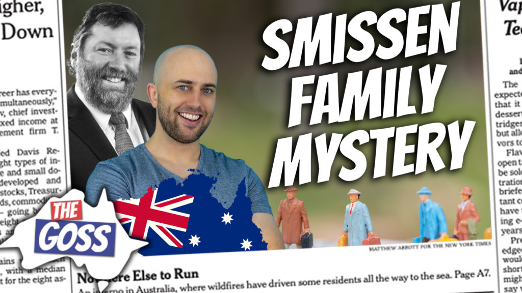 pete smissen, host of aussie english podcast, talks to ian smissen father, smissen family migration, australian immigrant story