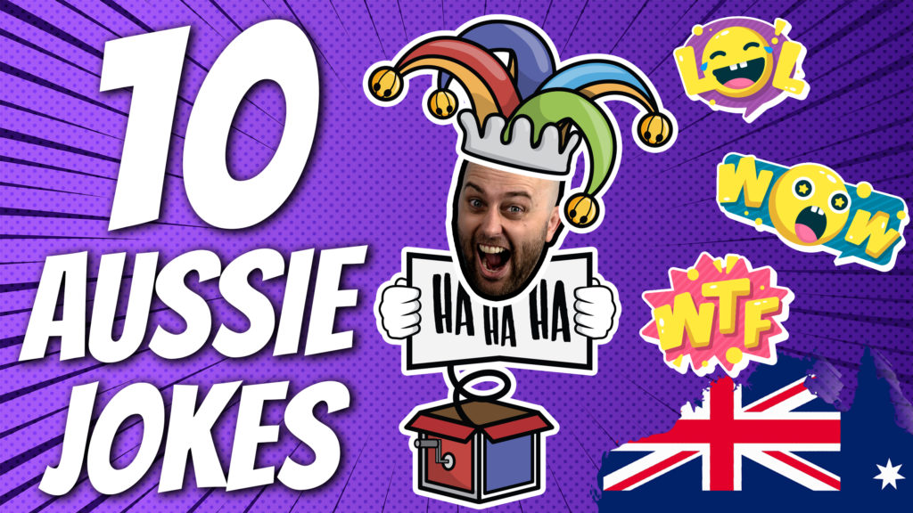pete smissen, host of aussie english podcast, 10 australian english jokes, pun jokes, pete smissen funny jokes, pete smissen weekly funny jokes