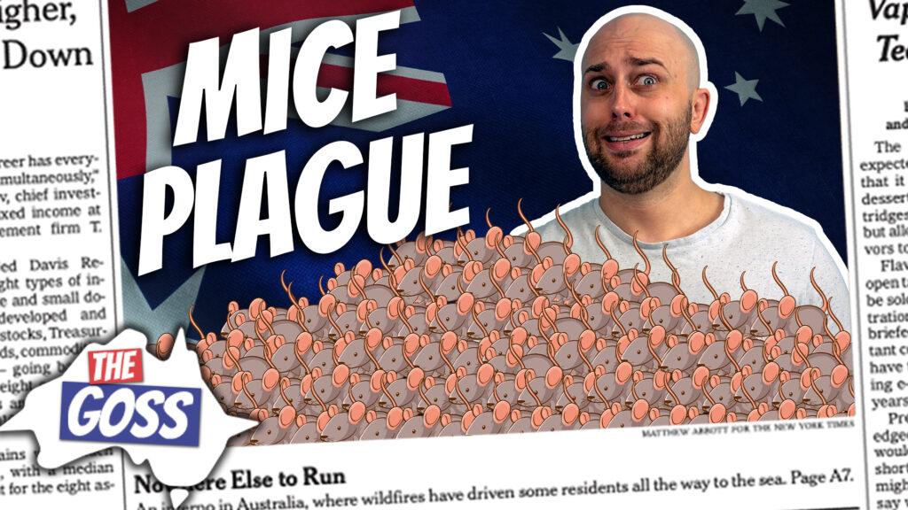 pete smissen, host of aussie english podcast, the goss australia, ian smissen, australia news, australia current affairs, mice plague australia 2021, millions of mice ravage australia fields, how mice breed, learn australian english