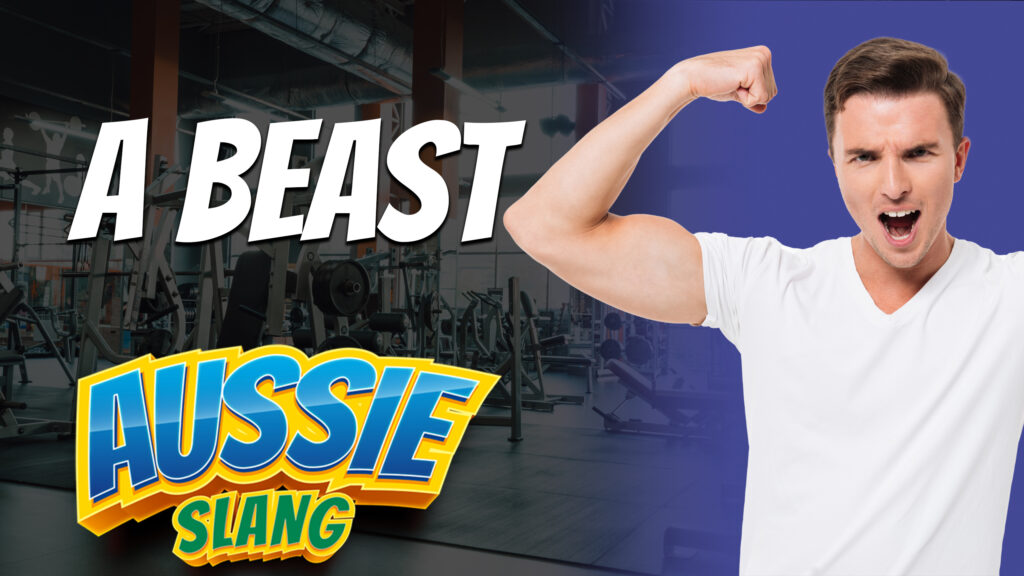 pete smissen, host of aussie english podcast, australian slang, aussie slang, what is a beast in slang, how to use beast in a sentence, beast slang meaning