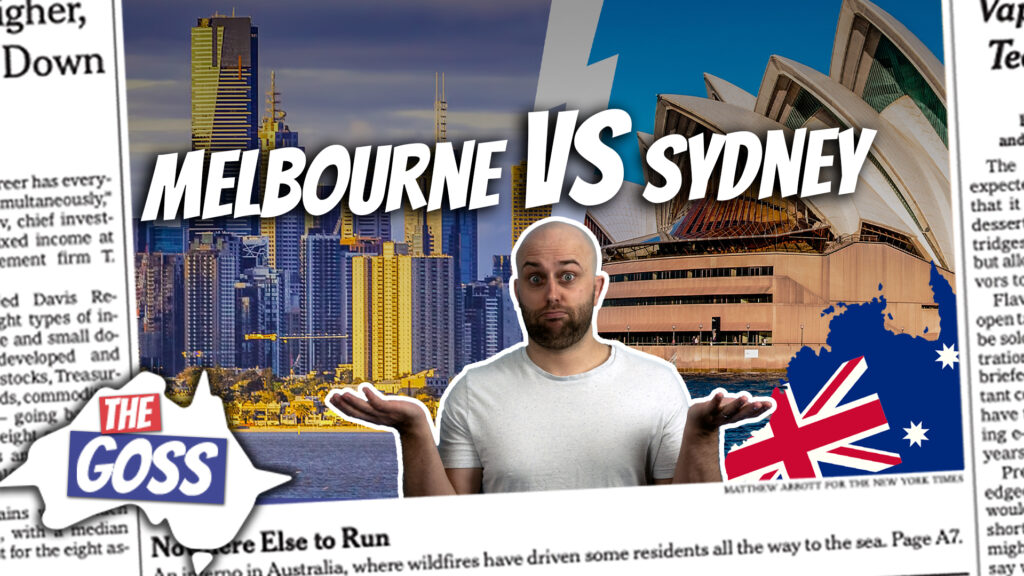 pete smissen, host of aussie english, the goss australia, melbourne sydney rivalry, melbourne vs sydney