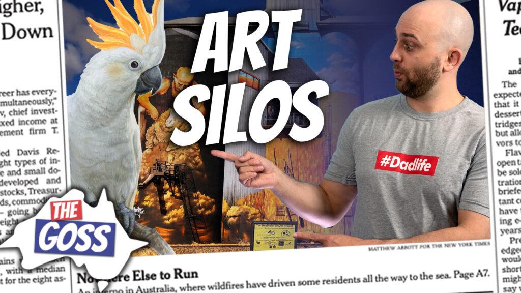 pete smissen, host of aussie english, art silos, talks to ian smissen father, the goss australia, australia current news, australia cockatoos, what is art silo, what is mallee, australian mallee