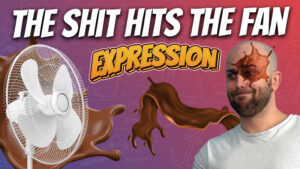 pete smissen, aussie english podcast, learn english australia, learn english with pete, learn language podcast, australian podcast host, learn english podcast, learn english online course, english expression example with meaning, shit hits the fan meaning, use shit hits the fan in a sentence, what is shit hits the fan