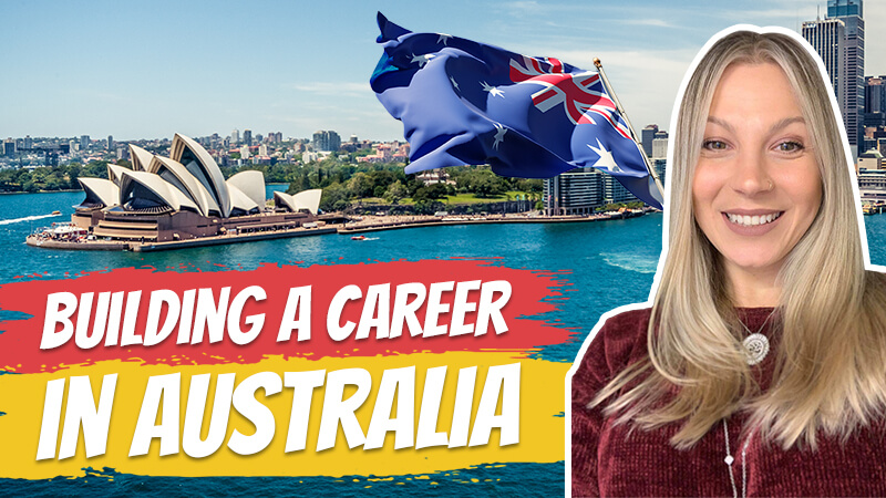pete smissen, aussie english podcast, learn english australia, learn english with pete, learn language podcast, australian podcast host, learn english podcast, learn english online course, interview Milene Sales, how to build career in australia, career building tips australia, how to get a job in australia, moving to australia, migrating to australia